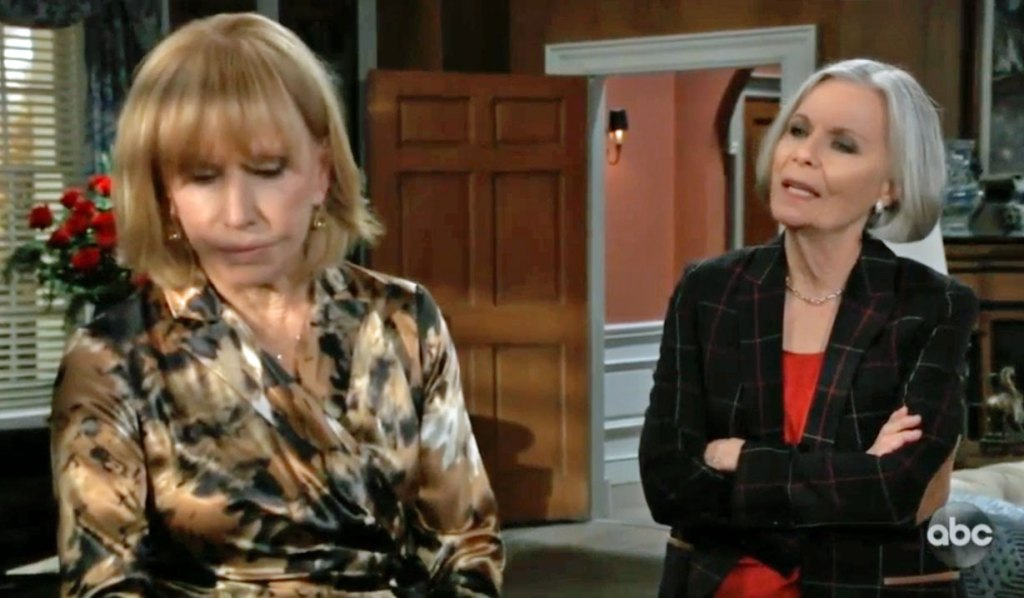 Tracy learns Ned cheated on GH