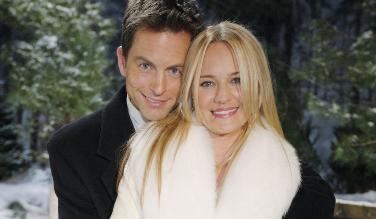 "Sharon Case, Michael Muhney adam wedding ""The Young and the Restless"" SetCBS television CityLos Angeles11/17/09©sean smith/jpistudios.com310-657-9661"