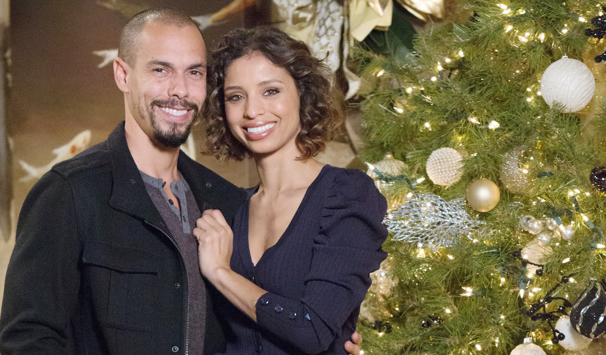 """Brytini Sarpy, Bryton James """"The Young and the Restless"""" Set Christmas CBS television City Los Angeles 11/15/19 © Howard Wise/jpistudios.com 310-657-9661"""
