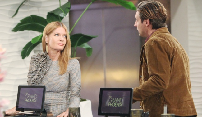 """chance phyllis yr Michelle Stafford, Danny Boaz""""The Young and the Restless"""" Set CBS television CityLos Angeles10/10/19© Howard Wise/jpistudios.com310-657-9661Episode # 11818U.S. Airdate 11/18/19"""