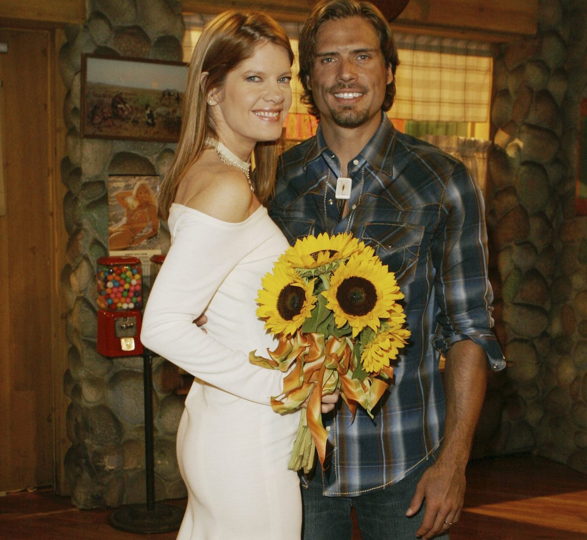 "yr nick phyllis texas bar wedding Joshua Morrow, Michelle Stafford ""The Young and the Restless"" Set CBS Television City Los Angeles 9/15/06 ©Brian Lowe/jpistudios.com 310-657-9661"