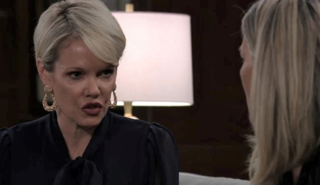 Ava and Carly talk custody at Corinthos house General Hospital