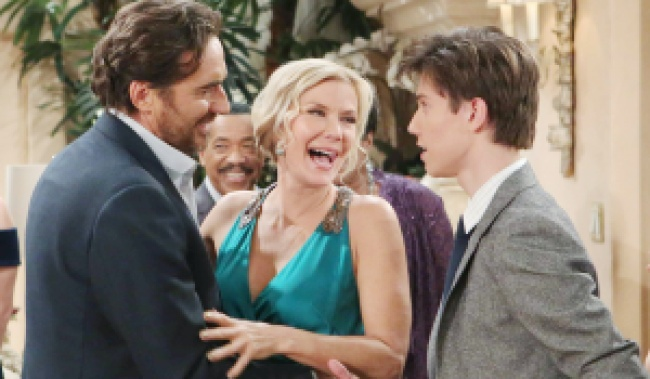 "Katherine Kelly Lang, Thorsten Kaye, Anthony Turpel""The Bold and the Beautiful"" Set CBS Television City Los Angeles, Ca. 11/14/17 © Howard Wise/jpistudios.com 310-657-9661 Episode # 7741 U.S.Airdate 12/22/17"