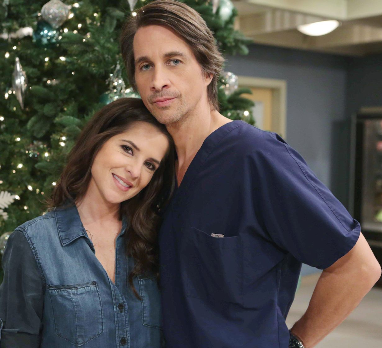 "Kelly Monaco, Michael Easton ""General Hospital"" Set Home for the Holidays The Prospect Studios ABC Studios Los Angeles 11/21/13 © Howard Wise/jpistudios.com 310-657-9661"