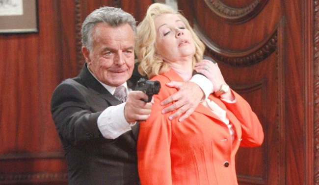 """Ray Wise, Melody Thomas Scott""""The Young and the Restless"""" Set CBS television City Los Angeles 05/31/16 © Howard Wise/jpistudios.com 310-657-9661 Episode # 10956 U.S. Airdate 07/01/16"""