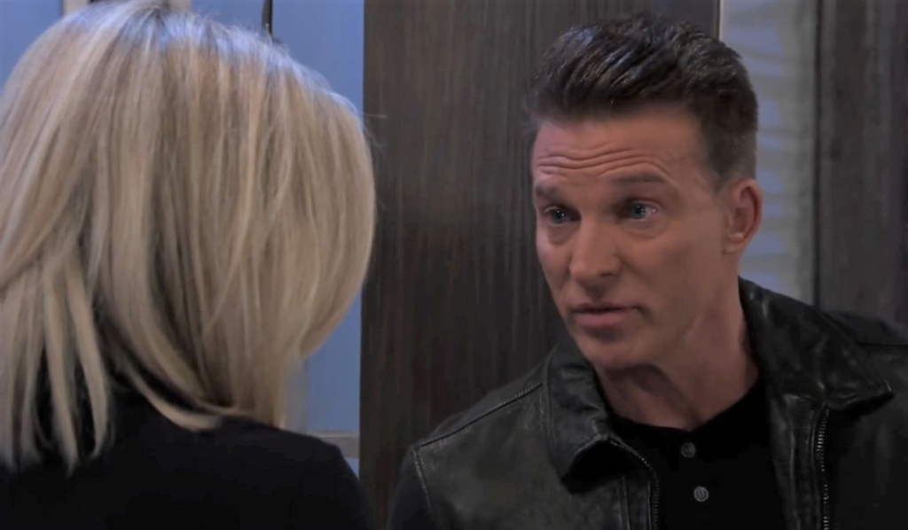 Jason and Carly talk Sonny funeral at Metro Court General Hospital