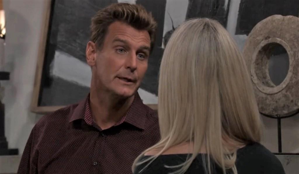 Jax talks to Nina about Joss at home General Hospital