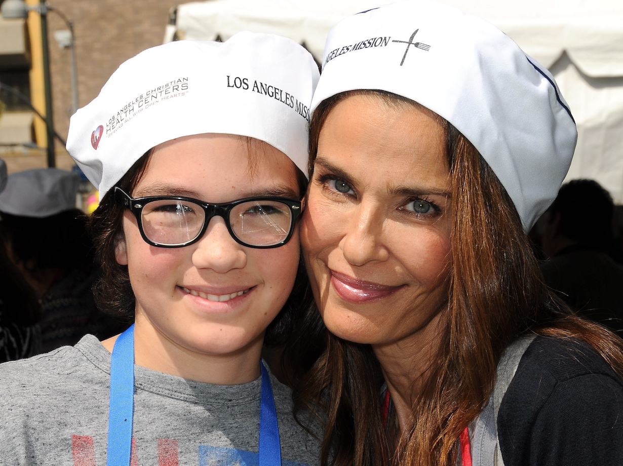 Kristian Alfonso, Son Jack DaggenhurstThe Los Angeles Missions Easter Celebration Of New Life Feeding of the Homeless at Los Angeles Mission on March 25, 2016 in Los Angeles, California3/25/16 © Jill Johnson/jpistudios.com310-657-9661