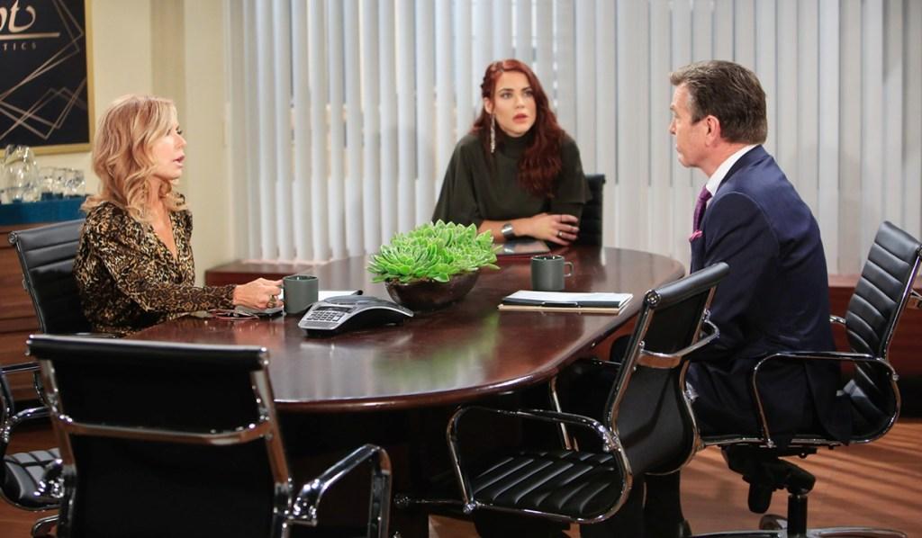 Lauren, Sally, Jack meeting Y&R