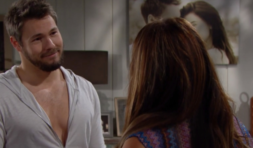 Liam smiles Steffy Bold and Beautiful