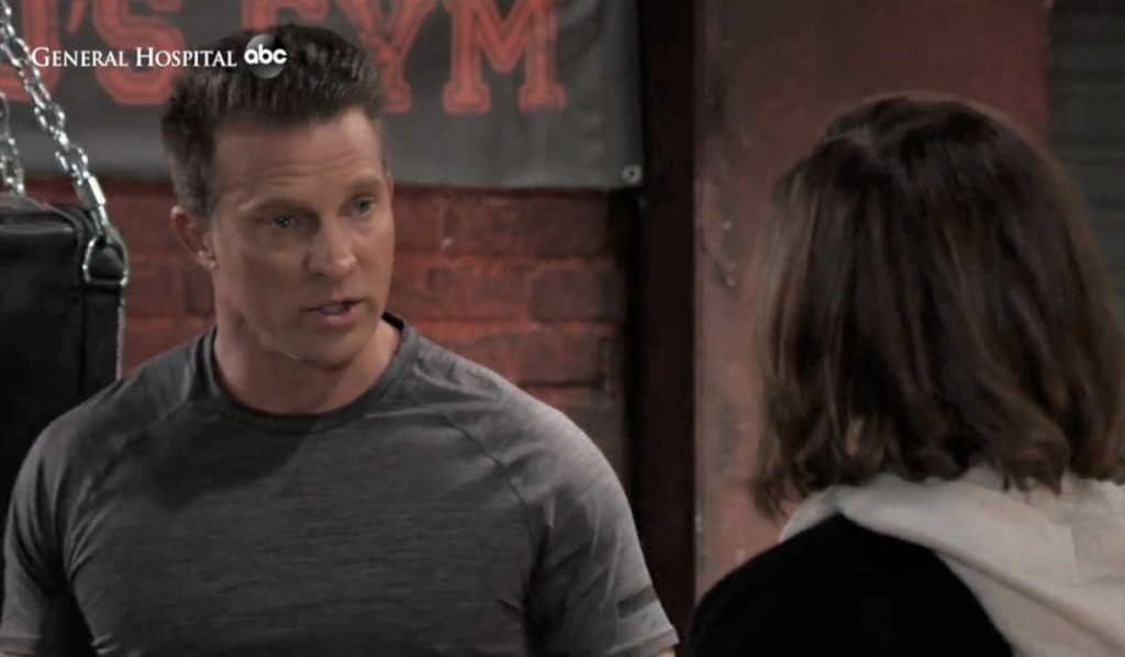 Jason and Liz talk killing Franco at the gym General Hospital
