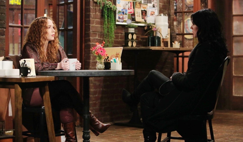 Mariah, Tessa discussion Y&R