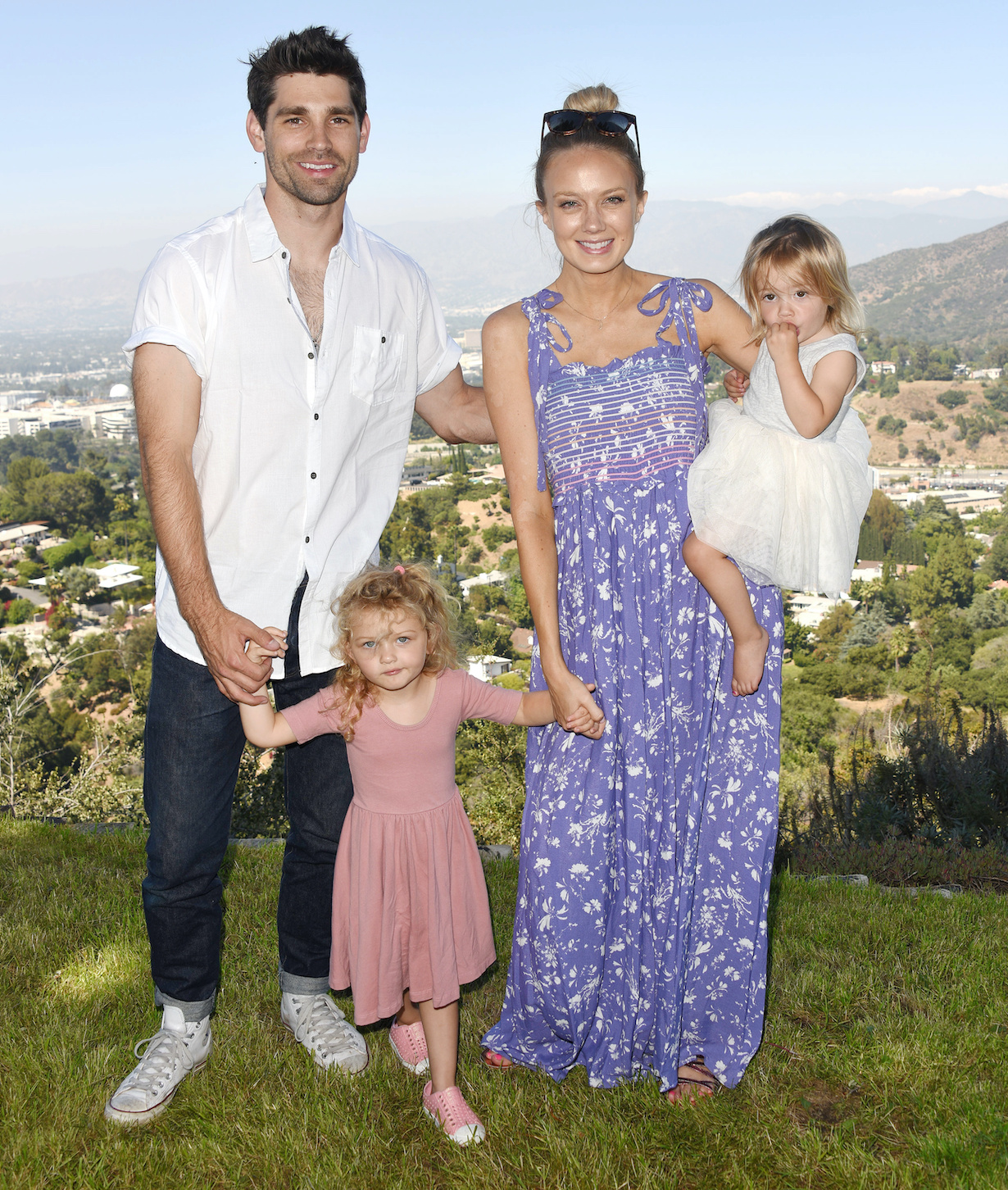 Melissa Ordway, Justin Gaston,Olivia Gaston, Sophie Gaston Kelly Krugers Baby Shower at a Private Residence in Los Angeles, California on July 13, 2019© Jill Johnson/jpistudios.com310-657-9661