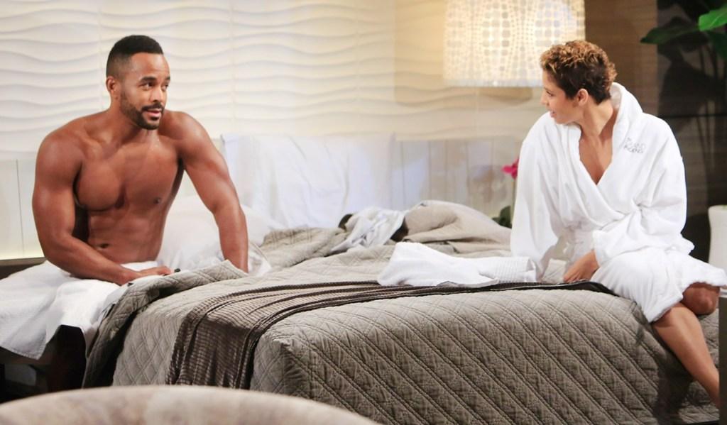 Nate, Elena towel Y&R