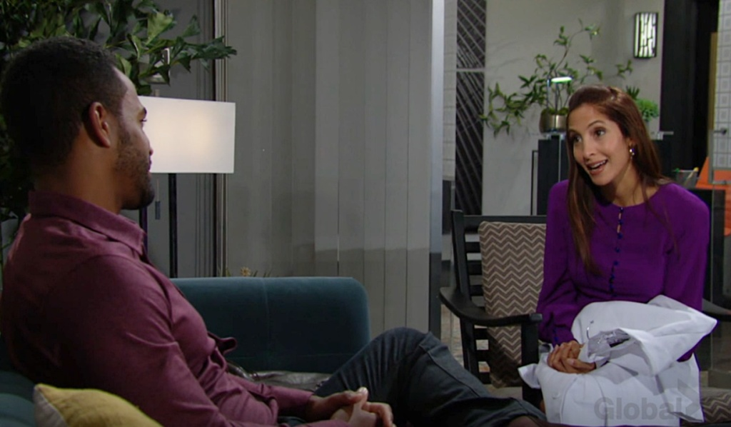 Nate, Lily job talk Y&R