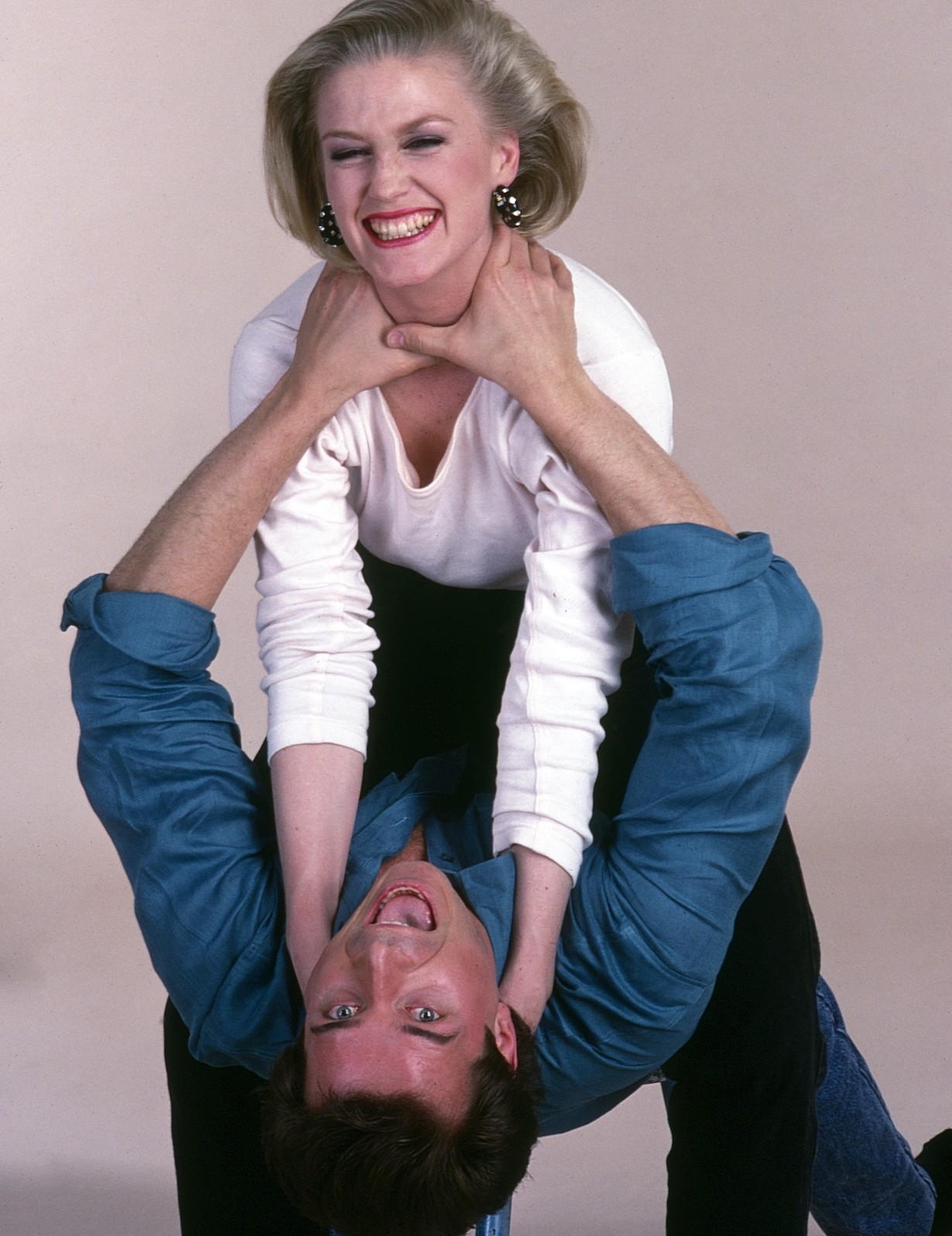 ONE LIFE TO LIVE, from top: Jessica Tuck, James DePaiva, (1989), 1968-2013. ph: Lucille Khornak/ TV Guide/©ABC/courtesy Everett Collection