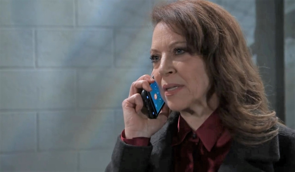 Obrecht makes a call about Franco in garage General Hospital