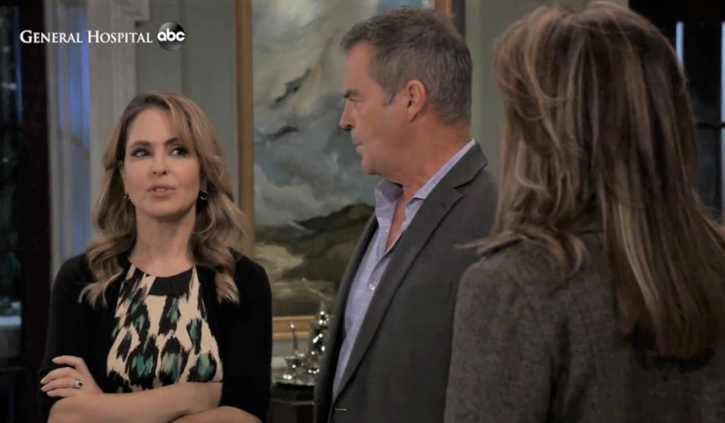 Ned, Olivia and Alexis talk deception at Quartermaine's General Hospital