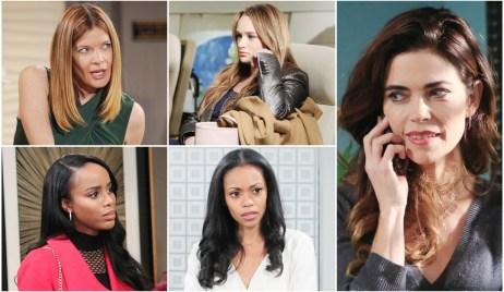 Phyllis, Summer, Imani, Amanda, Victoria Y&R