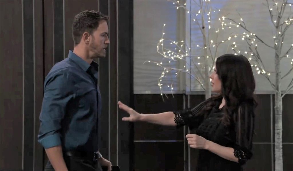 Peter is defensive with Sam at Metro Court General Hospital