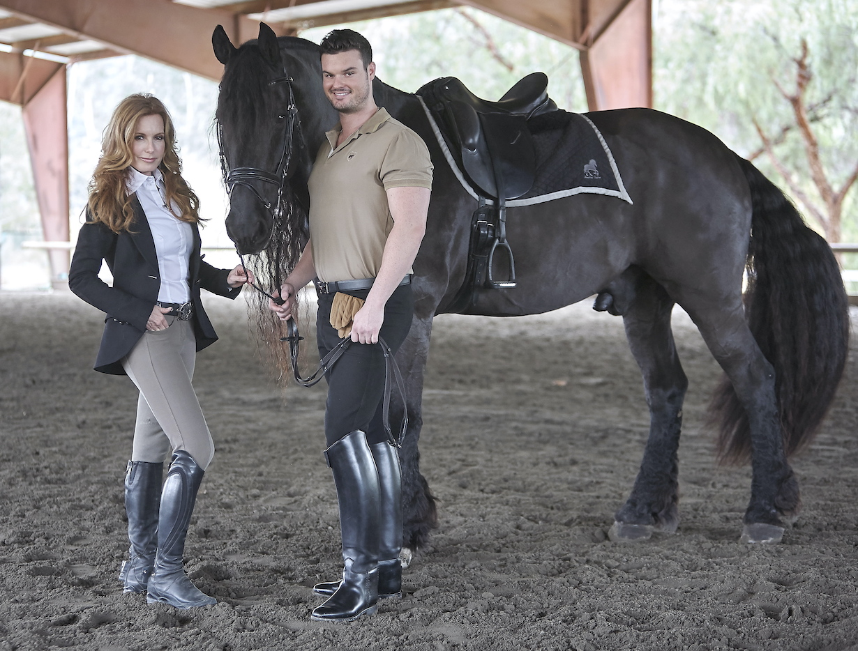 "Tracey Bregman, Son Austin Recht""The Young and the Restless"" Stars Equestrian Photo Shoot Malibu Creek Equestrian CenterMalibu, Ca.12/01/14© sean smith/jpistudios.com310-657-9661"