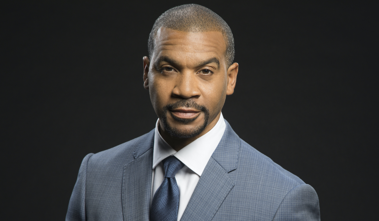 Aaron D. Spears of the CBS series THE BOLD AND THE BEAUTIFUL, Weekdays (1:30-2:00 PM, ET; 12:30-1:00 PM, PT) on the CBS Television Network. Photo: Cliff Lipson/CBS ©2018 CBS Broadcasting, Inc. All Rights Reserved