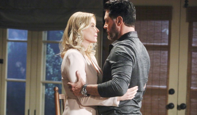 "bill brooke kiss Katherine Kelly Lang, Don Diamont""The Bold and the Beautiful"" SetCBS Television CityLos Angeles, Ca.01/24/20© Howard Wise/jpistudios.com310-657-9661Episode # 8288U.S.Airdate 03/06/20"