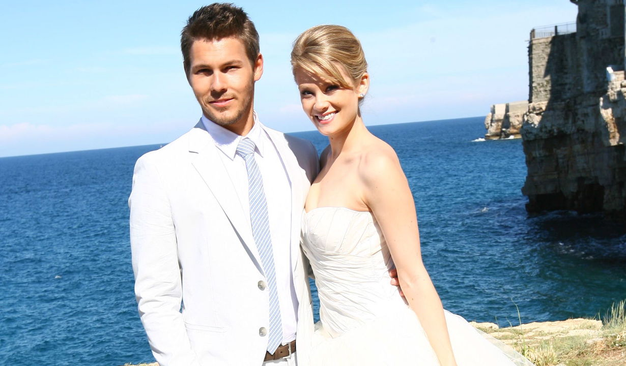"Scott Clifton, Kimberly Matula ""The Bold and the Beautiful"" liam hope wedding italy ss"