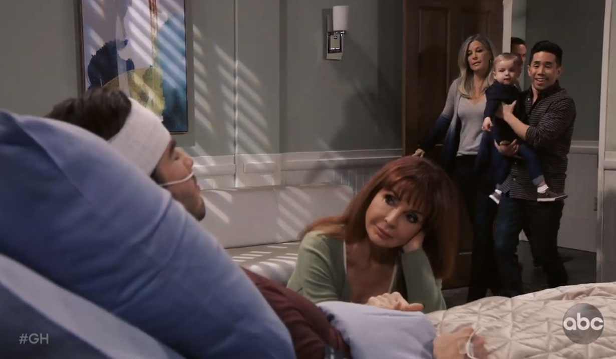 brad's stunned upon entering lucas' room general hospital