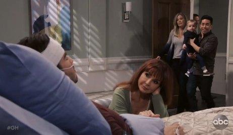 brad's stunned upon entering lucas' room general hospital
