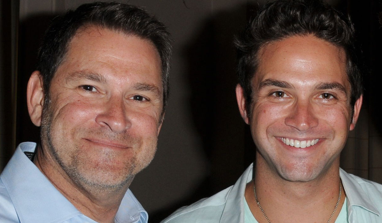 Brandon Barash and his dad DAYS