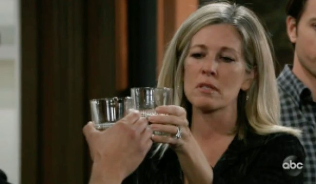 Carly toasts to Sonny on GH