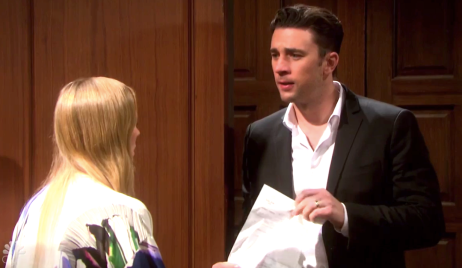 Chad confronts Abigail with hotel bill on Days of Our Lives