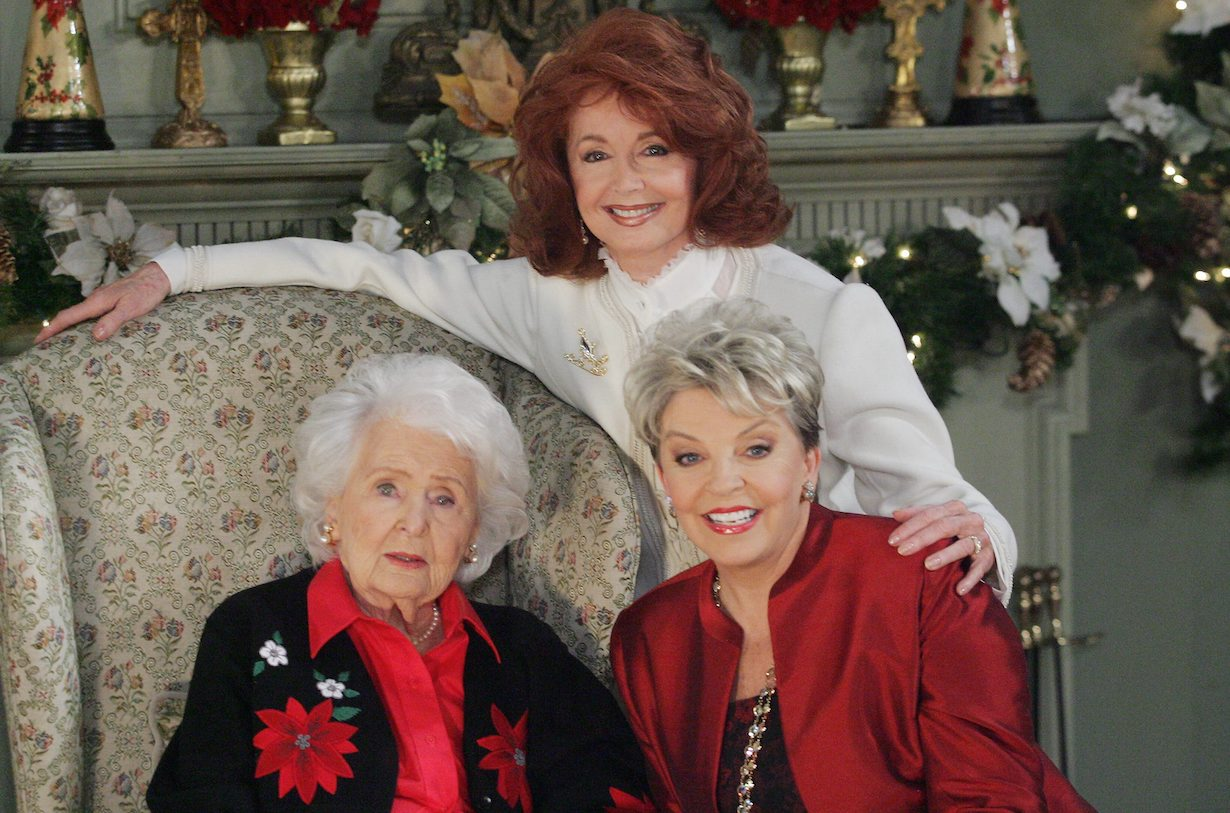 """Days of our Lives"" frances reid suzanne rogers susan seaforth hayes christmas alice maggie julie"