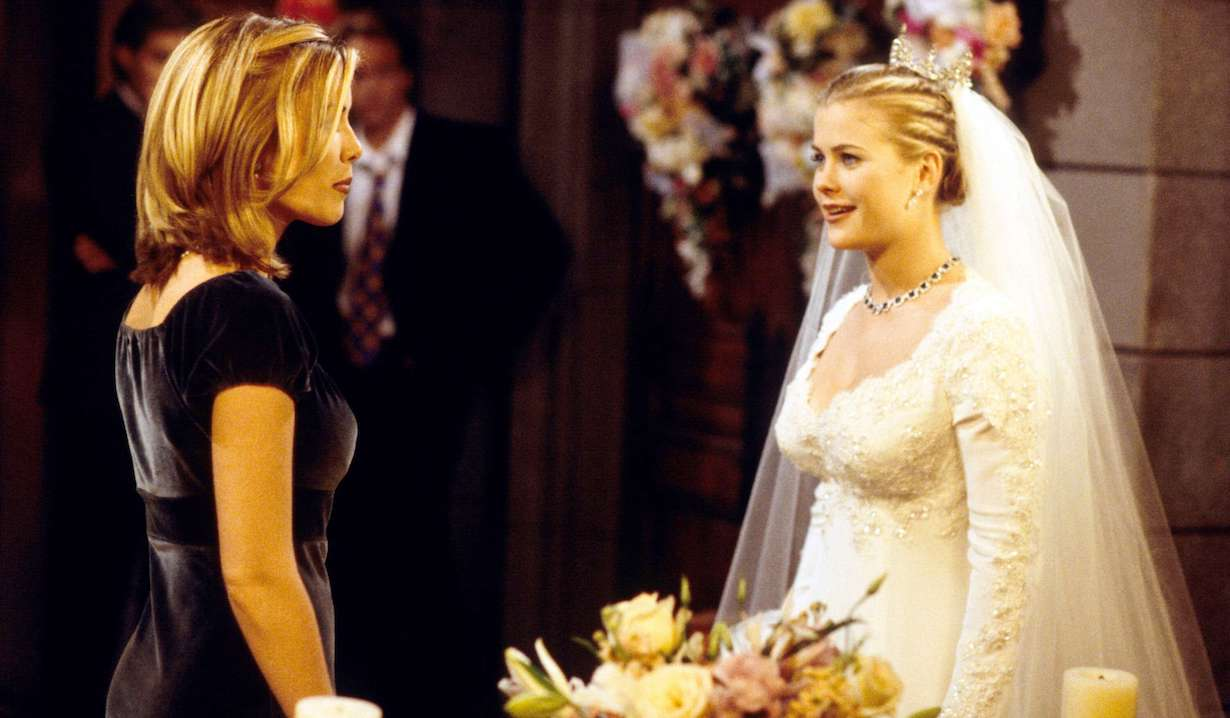 "Alison Sweeney and Christie Clark"" carrie stops sami wedding Days of Our Lives"" SetNBC Studios8/13/97©John Paschal/JPI310-657-9661Episode# 8115"