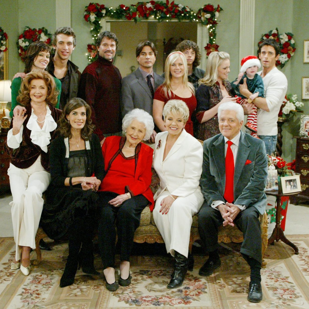 "days christmas 2006 Suzanne Rogers, Frances Reid, Kristian Alfonso, Peter Reckell, Cast""Days Of Our Lives"" Set Christmas Set-UpsNBC StudiosBurbank11/16/06©Paul Skipper/jpistudios.com310-657-9661"