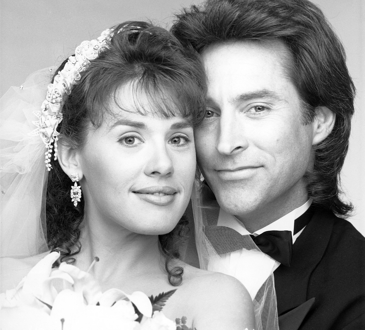 DAYS OF OUR LIVES, from left: Staci Greason, Drake Hogestyn, (1992), 1965- . /©NBC/Courtesy Everett Collection