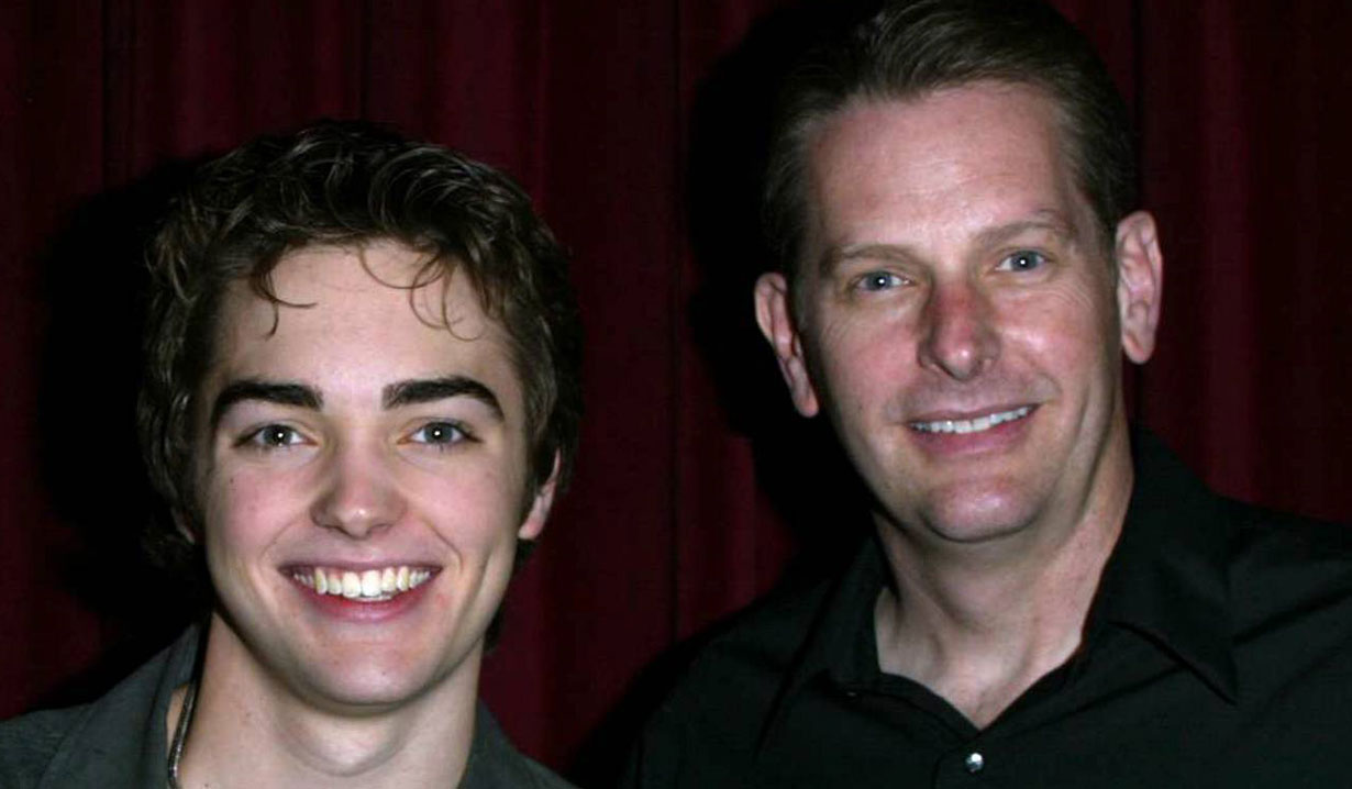 Drew Tyler Bell and his dad B&B
