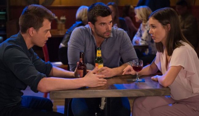 """willow chase michael GENERAL HOSPITAL - Chad Duell (Michael), Josh Swickard (Chase) and Katelyn MacMullen (Willow) in scenes that air the week of April 8, 2019. """"General Hospital"""" airs Monday-Friday (3:00pm- 4:00pm ET) on the ABC Television Network. GH19(ABC/ Michael Yada) CHAD DUELL, JOSH SWICKARD, KATELYN MACMULLEN"""