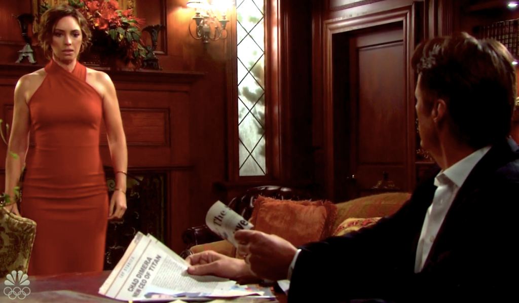 Gwen finds Jack with her file on his family on Days of Our Lives