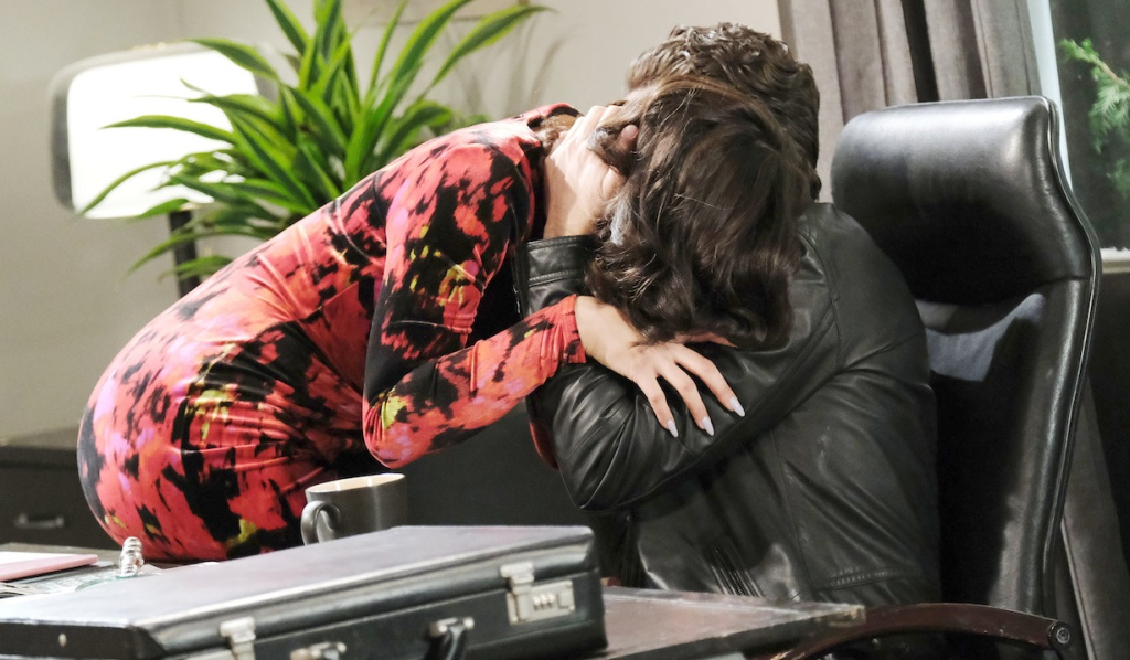 Jake and Gabi kiss in Jake's office on Days of Our Lives