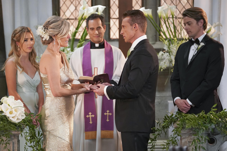 "jason carly wedding burton wright GENERAL HOSPITAL - ""Episode 14812"" - ÒGeneral Hospital"" airs Monday-Friday, on ABC (check local listings). (ABC/Eric McCandless)LAURA WRIGHT, STEVE BURTON"
