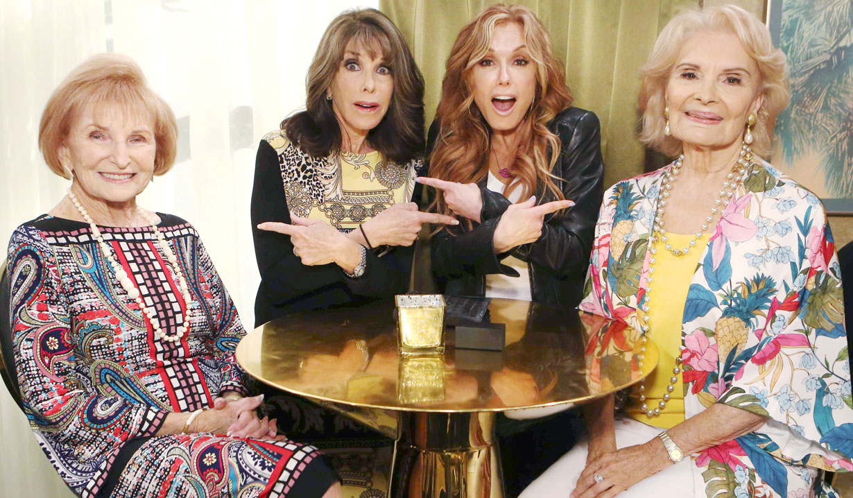 kate linder and tracey bregman with moms Y&R