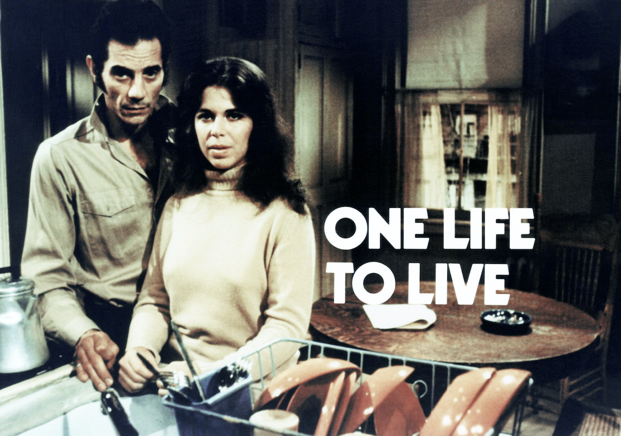 ONE LIFE TO LIVE, (from left): Antony Ponzini, Trish Van Devere, (ca. mid-1970s), 1968-. © ABC / Courtesy: Everett Collection