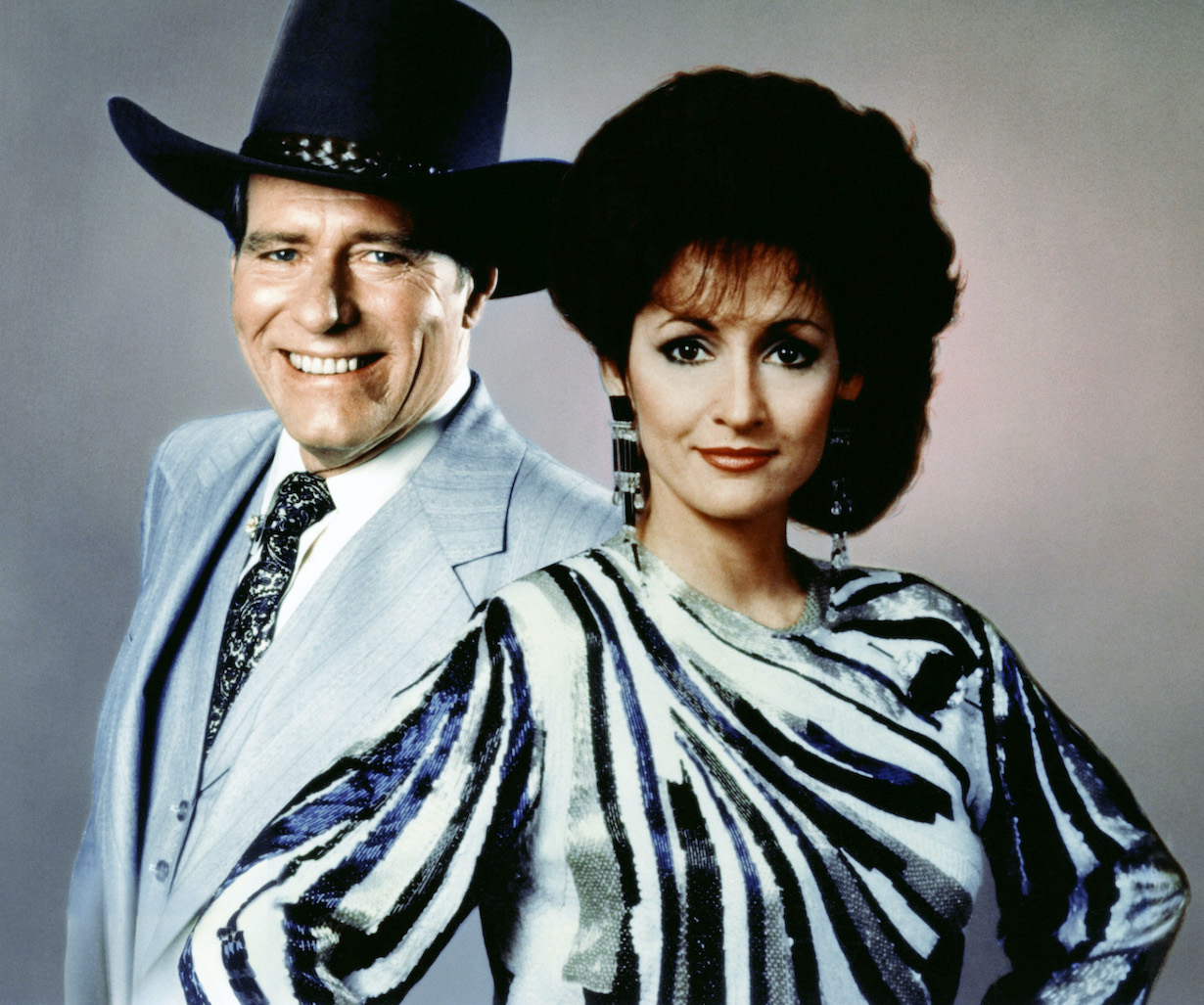 ONE LIFE TO LIVE, (from left): Phil Carey, Robin Strasser, (ca. early 1980s), 1968-. © ABC / Courtesy: Everett Collection