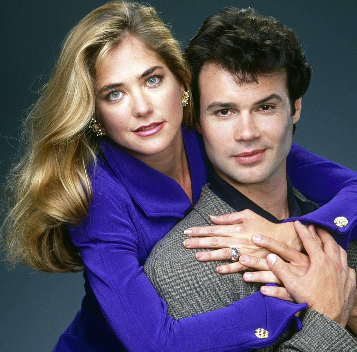 ONE LIFE TO LIVE, from left: John Loprieno, Kassie DePaiva, (1994), 1968-2013. ph: Robert Milazzo/©ABC/courtesy Everett Collection