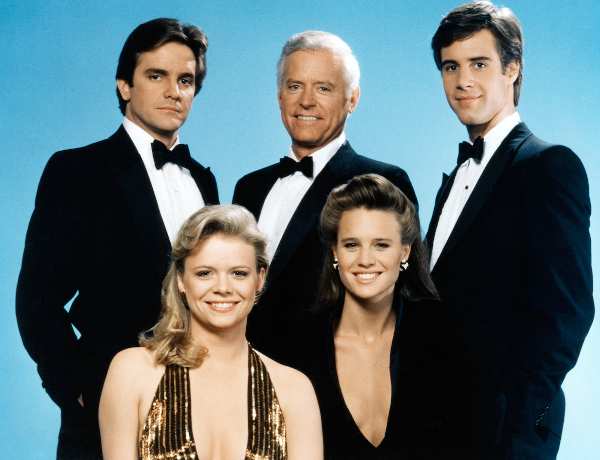 SANTA BARBARA, (top row, from left): Lane Davies, Charles Bateman, Todd McKee, (bottom): Marcy Walker, Robin Wright, (1985), 1984-93. © NBC / Courtesy: Everett Collection