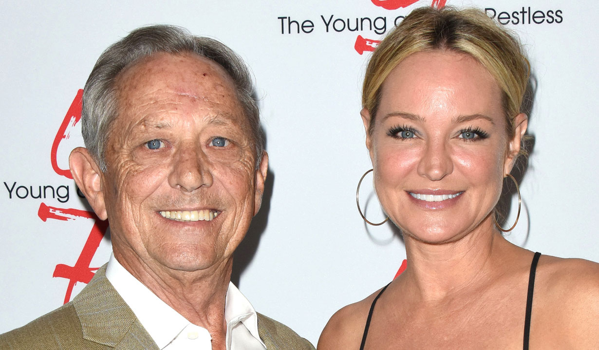 Sharon Case and her dad Y&R