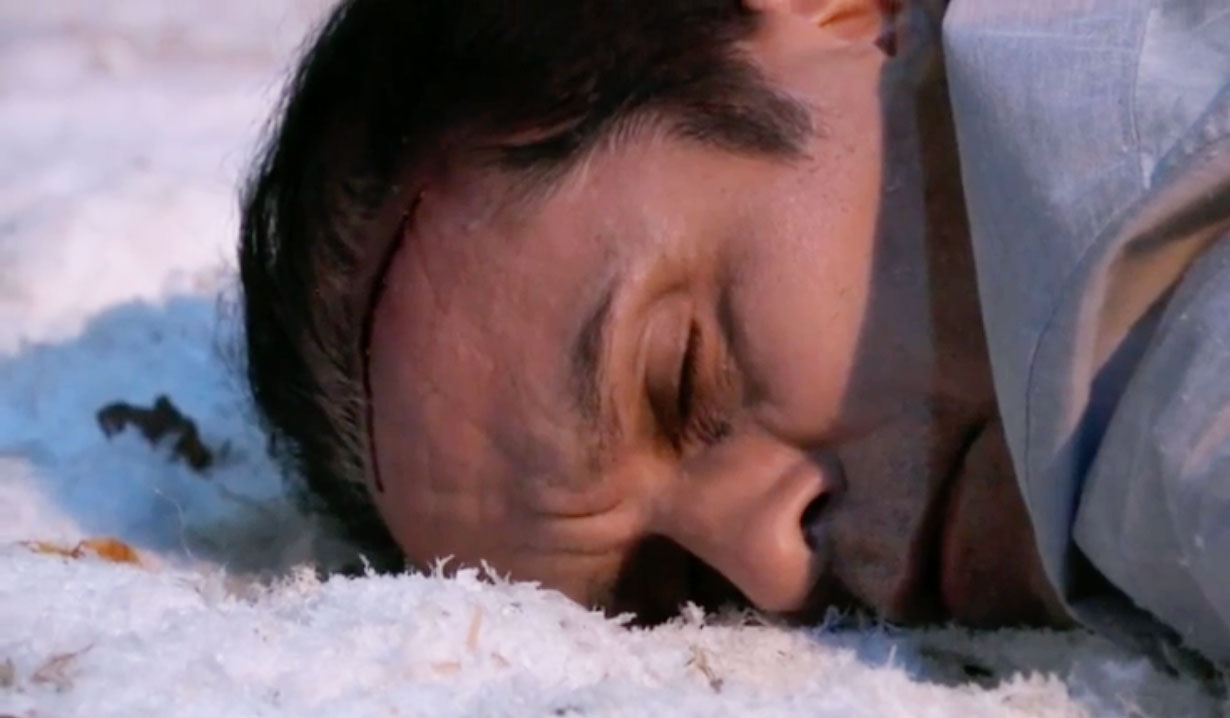 Sonny in the snow on GH