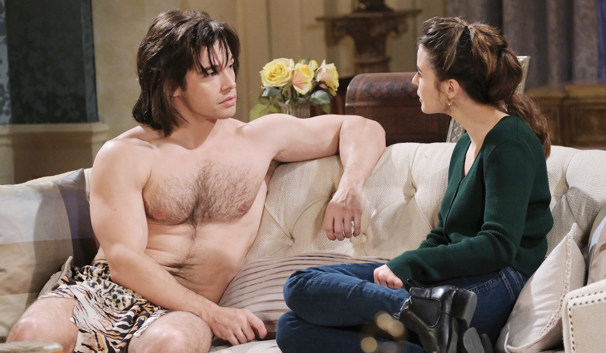 Xander as a caveman for Halloween on Days of Our Lives
